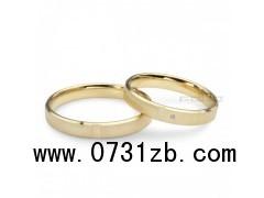 18K金圆形 最好的情侣戒指特色结婚对戒