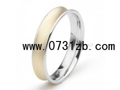 18K金凹型圆环 极品指环 超个性男戒