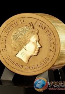 澳大利亚展一吨重的纯黄金硬币