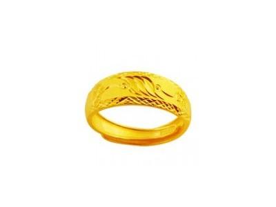 千足黄金戒指