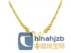 千足黄金项链