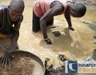 塞拉利昂挖到153.44克拉钻石 价值620万美元